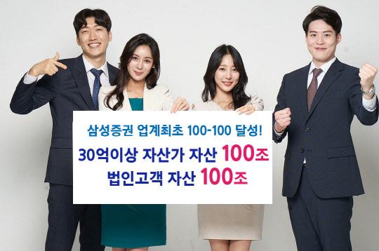삼성증권 업계 첫 100·100 달성